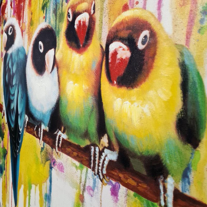 obraz parrots 2